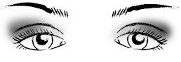 Правильный макияж глаз: опущенные к низу глаза