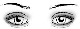 Правильный макияж глаз: слегка выпученные глаза
